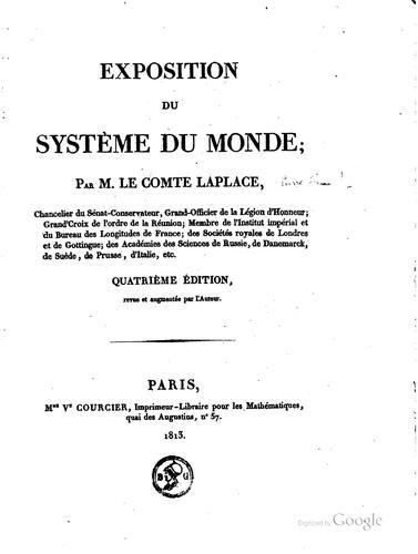 Exposition du système du monde