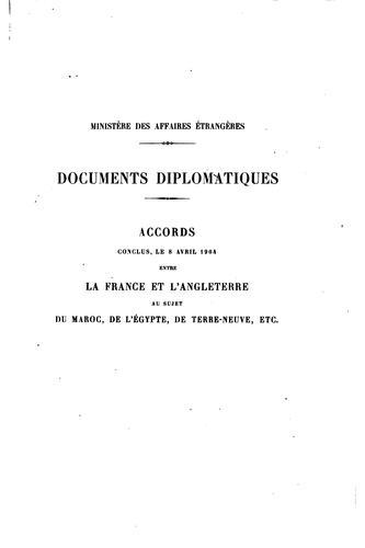 Documents diplomatiques.