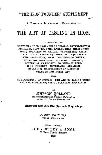 """""""The  iron founder"""" supplement."""