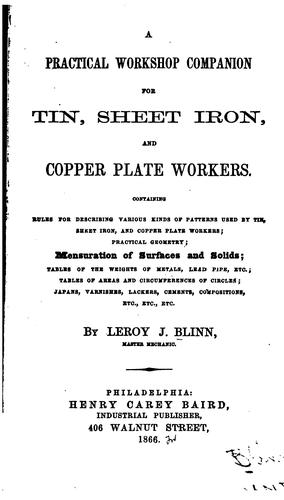 A practical workshop companion for tin, sheet iron, and copper plate workers.