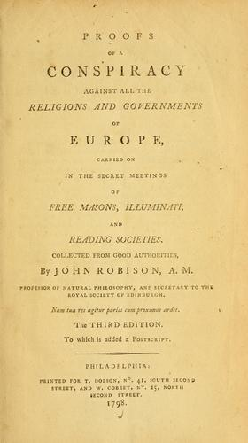 Download Proofs of a conspiracy against all the religions and governments of Europe