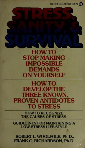 Download Stress, sanity, and survival