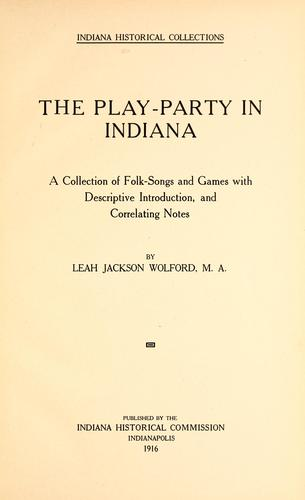 Download The play-party in Indiana