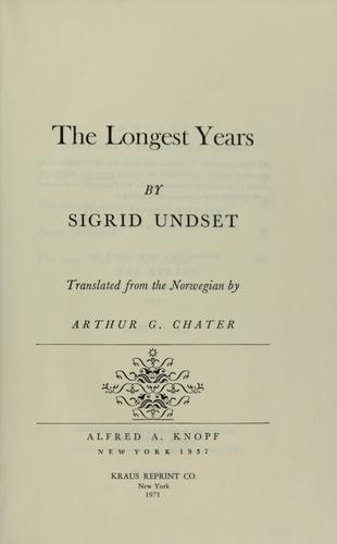 The longest years