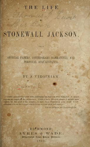Download The life of Stonewall Jackson.