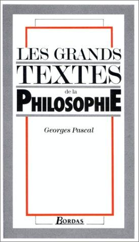 Les Grands textes de la philosophie