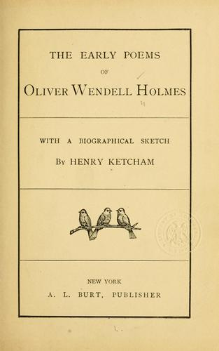 Download The early poems of Oliver Wendell Holmes