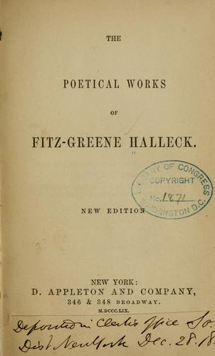 The poetical works of Fitz-Greene Halleck.