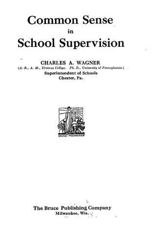 Download Common sense in school supervision