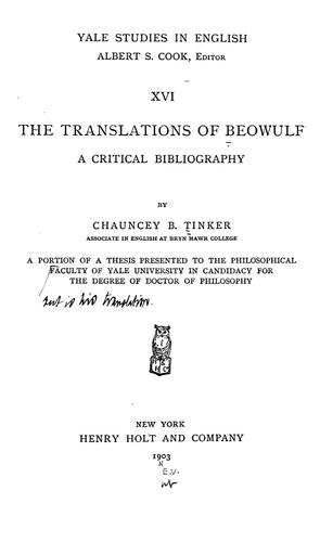 Download The translations of Beowulf