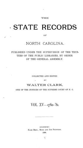 The State records of North Carolina