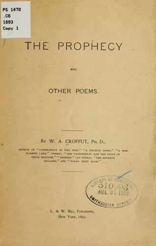 The prophecy and other poems