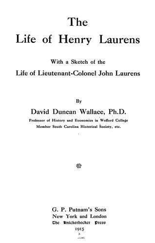 Download The life of Henry Laurens