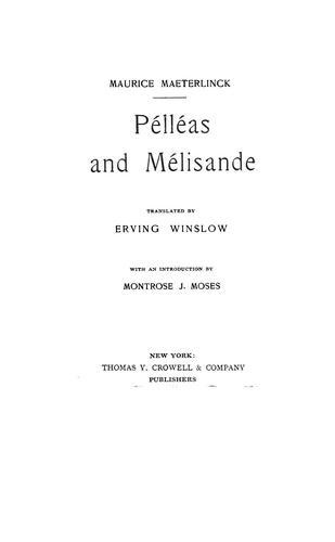 Pélléas and Mélisande