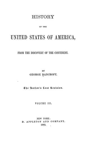 Download History of the United States of America, from the discovery of the continent to 1789
