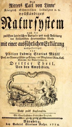 Des Ritters Carl von Linné vollständiges Natursystem