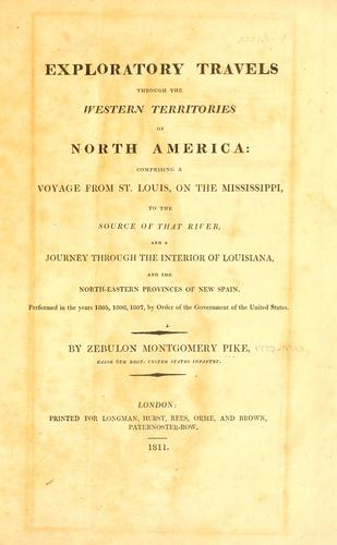 Download Exploratory travels through the western territories of North America