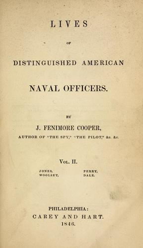 Lives of distinguished American naval officers