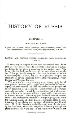 Download The history of Russia from the earliest times to 1877
