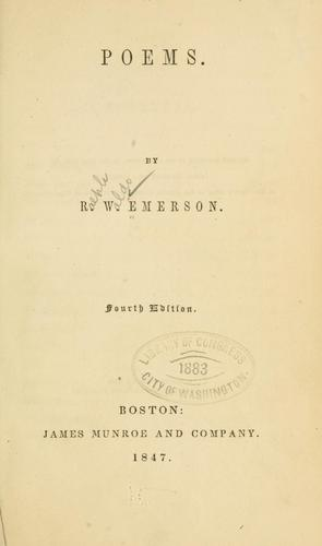 poems for photos. Poems by Ralph Waldo Emerson