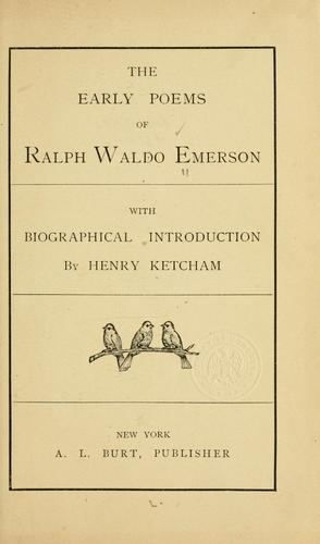 Download The early poems of Ralph Waldo Emerson