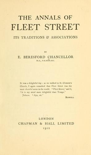 The annals of Fleet Street