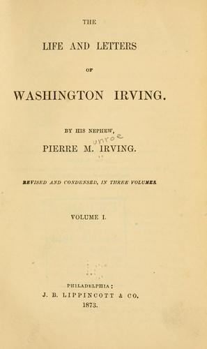 The life and letters of Washington Irving.