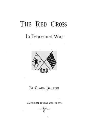 Download The Red Cross in peace and war
