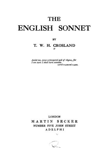 Download The English sonnet