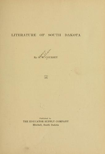 Download Literature of South Dakota