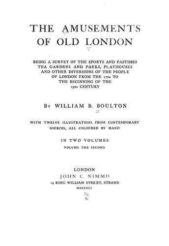 Download The amusements of old London