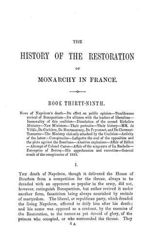The history of the restoration of monarchy in France.