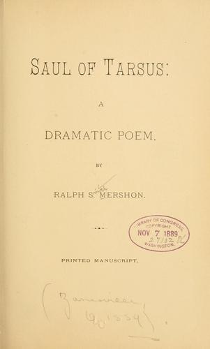 Download Saul of Tarsus