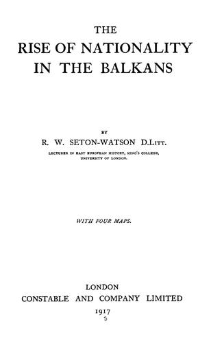 Download The rise of nationality in the Balkans
