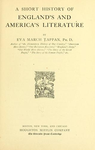 Download A short history of England's and America's literature