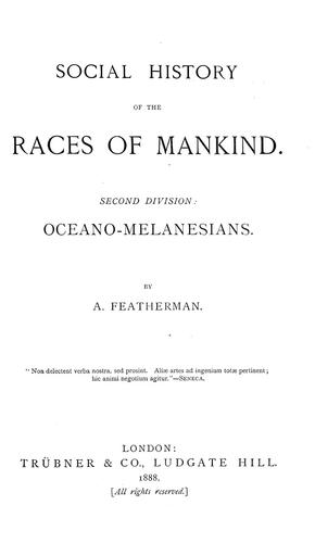 Download Social history of the races of mankind …