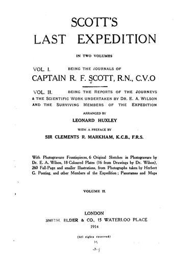 Scott's last expedition …