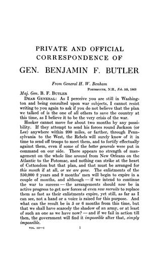 Download Private and official correspondence of Gen. Benjamin F. Butler