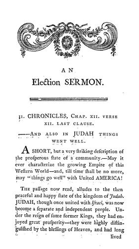 A sermon preached before His Excellency Jonh [sic] Hancock, Esq., governour, His Honor Samuel Adams, Esq., lieutenant-governour, the Honourable the Council, and the Honourable the Senate and House of Representatives of the Commonwealth of Massachusetts, May 25, 1791 by Robbins, Chandler