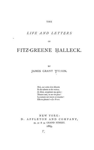 Download The life and letters of Fitz-Greene Halleck.