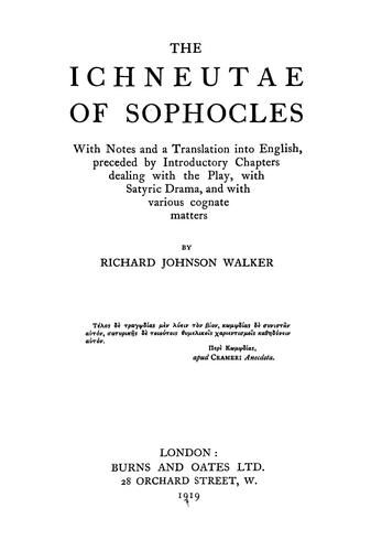 Download The Ichneutae of Sophocles