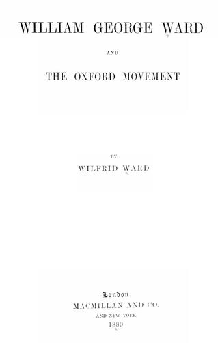 Download William George Ward and the Oxford movement