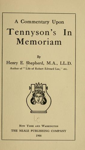 Download A commentary upon Tennyson's In memoriam