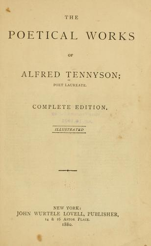 Download The poetical works of Alfred Tennyson