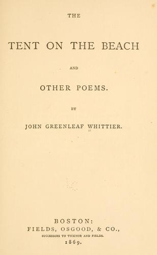 The tent on the beach and other poems.
