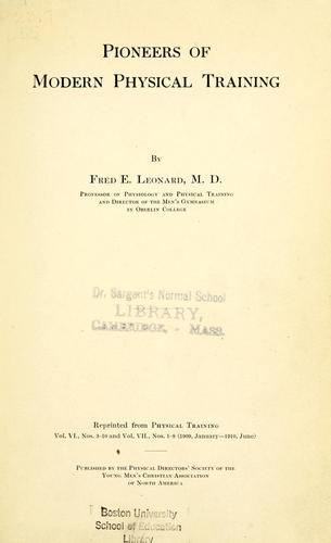 Download Pioneers of modern physical training
