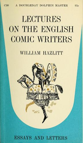 Download Lectures on the English comic writers