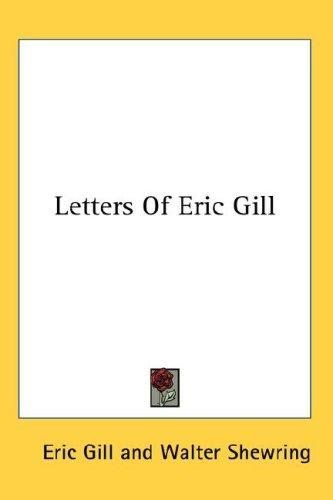 Download Letters Of Eric Gill