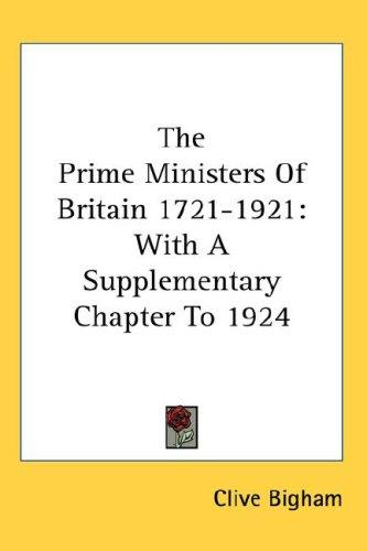 Download The Prime Ministers Of Britain 1721-1921