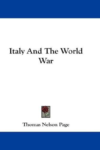 Italy And The World War